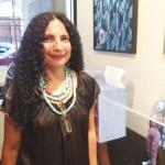 Olga Ayala presented colorful figures made of polymer clay.