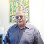 """""""Everything I paint comes from my own imagination,"""" said co-curator l Vinnie Dark."""