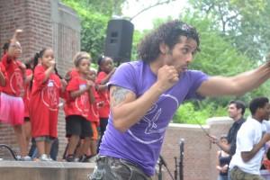 """""""Dancing is what made me,"""" said artist Luis Salgado."""