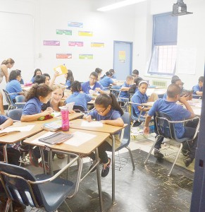 The school population is comprised of 495 middle school students.