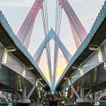 The 950-meter suspension bridge was built in 2011 Photo: EAbreuVisuals.com