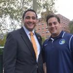 Assemblymember Robert J. Rodríguez (left) and Cosmos' Director of Marketing Rafael Morffi.