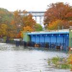 Water surged through Inwood Hill Park. Photo: QPHOTONYC