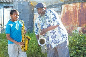 The character Felix dreams of becoming a saxophonist like his late father.