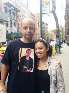 Edward Paulino con la directora Samantha Galarza. <br/><i>Foto: Cynthia Carrión</i>