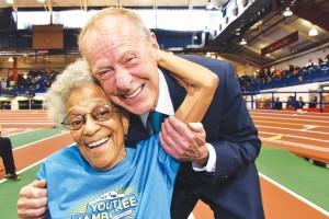 Ida Keeling and Dr. Norbert Sander. <br/><i>Photo: NYRR</i>