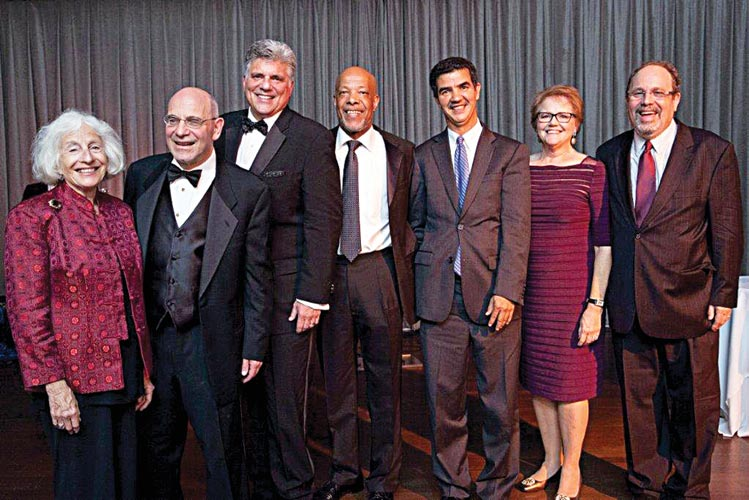 The 2013 Gala recognized (from left to right): Mathy Mezey; Mark J. Kator; Medline Industries, Inc. Presenter Eddie Elly, Councilmember Ydanis Rodríguez; Co-Chairs Hila Richardson and Eric Redlener, Ph.D.