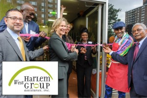 The ribbon-cutting was celebrated at Lenox Avenue.