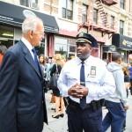 "Assemblymember Herman ""Denny"" Farrell (left) with 32nd Precinct Deputy Inspector Michael A. Davidson."