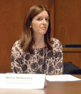 Melissa McNamara is the Vice President of Communications Practice with Global Strategy Group.