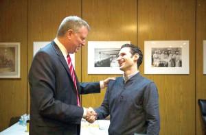 Mayor Bill de Blasio thanked Dr. Craig Spencer for his service.