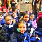 "Local first graders enjoyed a ""Dental Santa Day."""
