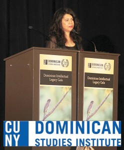 Dr. Ramona Hernández spoke at the Dominican Intellectual Legacy Gala.