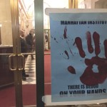 The Picture the Homeless protest was held at The Manhattan Institute.