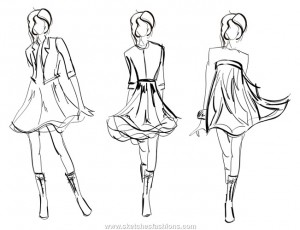 Learn the basics of fashion sketching to create original, mixed-media magazine covers.