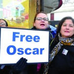 Ana López (right) is the New York Coordinator to Free Oscar López Rivera.