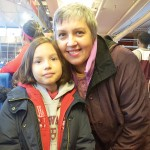 """""""I want to see if she can start training,"""" said Dorothy Rozbicka, with her daughter Blu."""