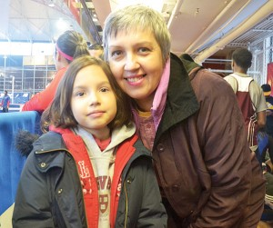 """I want to see if she can start training,"" said Dorothy Rozbicka, with her daughter Blu."
