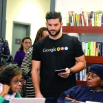 Google volunteers worked with seniors at Carter Burden/Leonard Covello Senior Program.