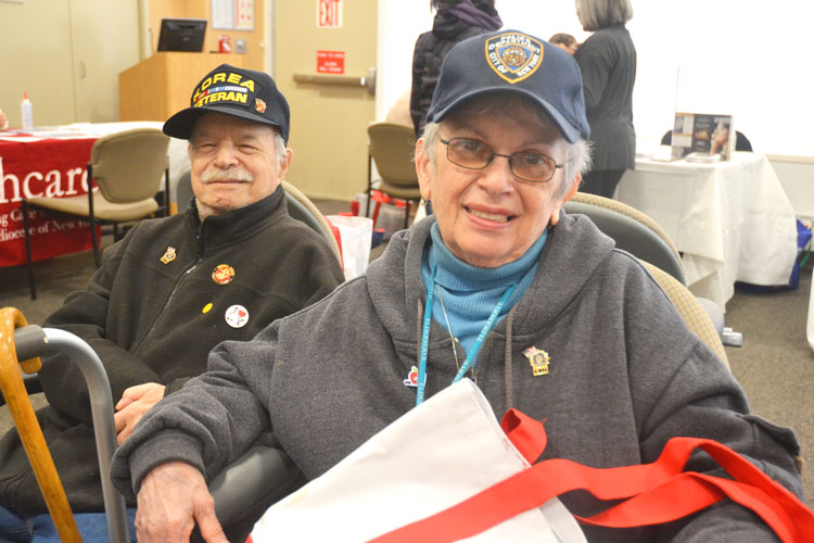 """We come every year,"" said Rhoda Schloss, with her husband Milton."