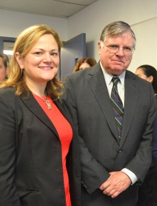 Speaker Melissa Mark-Viverito with Benno Schmidt, Chairperson of CUNY's Board of Trustees.