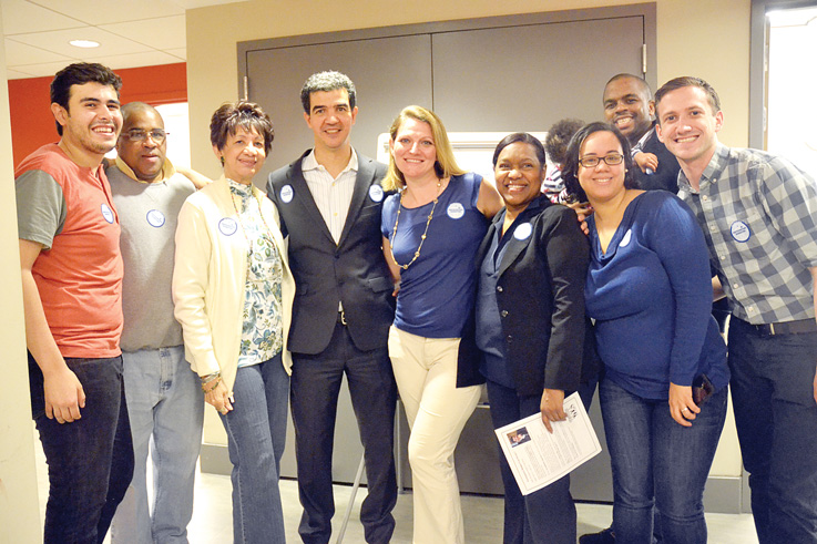 The Councilmember's team.