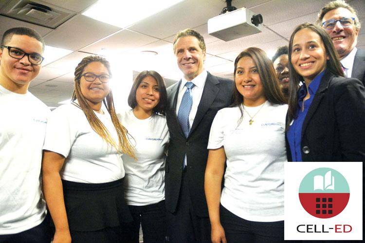 Gov. Cuomo stands with CUNY advocates.