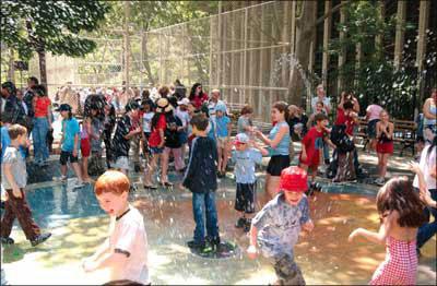 Children of all ages enjoy sports at Highbridge Park.
