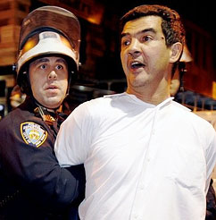The night of his arrest.