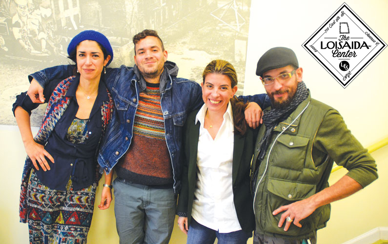 "The team at the Loisaida Center includes (from left to right): Libertad Guerra, Chief Curator and Artistic Director; Alejandro Epifanio Juan, Technical and Media Manager; Lymaris Alboris, Acacia's Director of Project Management, Communications and External Affairs; and Carlos ""Tato"" Torres, Deputy of Community Affairs."