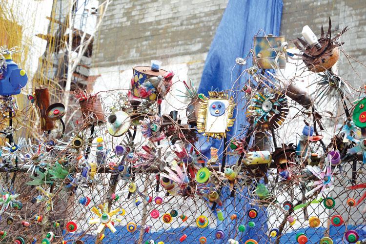Artwork at La Plaza Cultural.