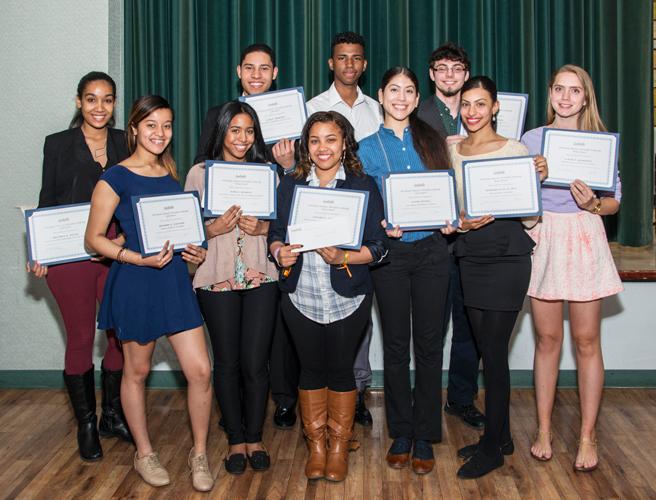 The ten scholarship winners.