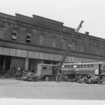 The original depot was a trolley barn that was demolished in 2009.