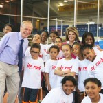 Armory Foundation President Dr. Norbert Sander (far left) and CityTrack Founder Susan Waterfall with participants.