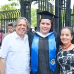 With her uncle Luis Miranda and aunt Dr. Luz Towns-Miranda.