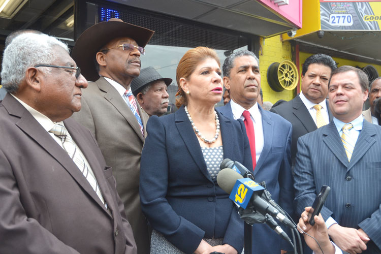 Livery cab advocates and elected officials announced a change in industry regulations.