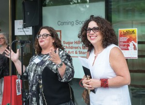 Sugar Hill Children's Museum of Art and Storytelling's Executive Director Susan R. Delvalle (left), and NoMAA's Executive Director Sandra García-Betancourt.