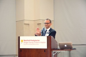 Steven Kaplan, Associate Chief Medical Officer of NYP's Ambulatory Care and Patient Experience, cheered the students.