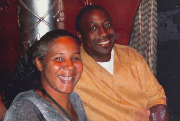 Eric Garner with his wife Esaw in a family photo.