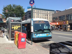 The M60 bus on 125th Street.