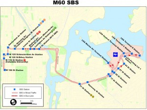 Map of the current route.  Photo: MTA