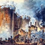 Prise de la Bastille, as depicted by Jean-Pierre-Louis-Laurent Houel.
