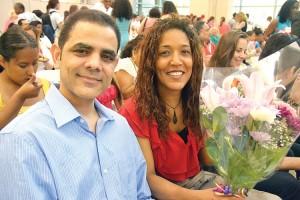 Parents Agustín Díaz and Melanie Hidalgo.
