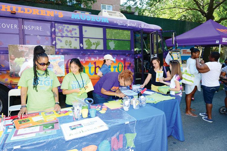 "The Bronx Children's Museum presented a ""Bridge Making Workshop""."