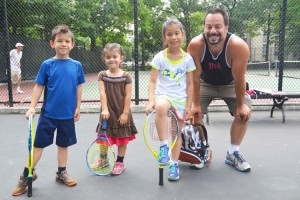 """You only have to watch the advanced students to realize what they can accomplish,"" said Nick Graham, with his three tennis campers."