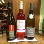 Duggal's picks include from (left to right): the Muscadet L'Inattendu, the Château Famaey Malbec Rose; and the Mâcon-Villages Reine Pedauque.
