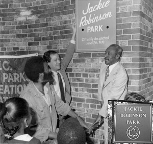 The park was renamed for Robinson in 1978.  Photo: NYC Parks Department