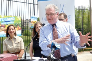 """""""We really enjoy providing free, nutritious meals,"""" said Parks' First Deputy Commissioner Liam Kanvanagh."""