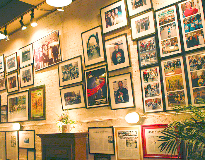The eatery's walls are lined with memories.