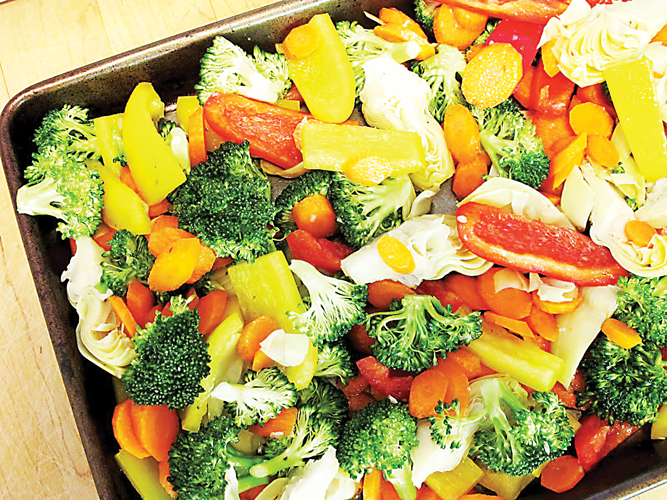 Turn frozen vegetables into a quick and healthy side dish.